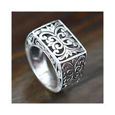 wedding ring indonesia emperor balinese handmade artisan open work 925 sterling silver mens