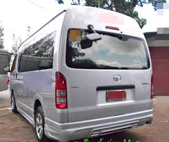 chrome back rear view mirror cover for toyota hiace commuter d4d
