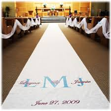 aisle runners wedding aisle runner premium 1 and groom names initials