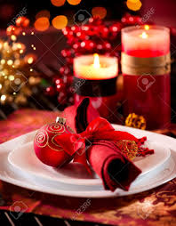 christmas table setting images christmas table setting holiday decorations stock photo picture and