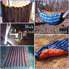 make a cold weather underquilt insulated hammock the homestead