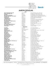 Movie Theatre Resume Aaron Douglas U2013 Acting Resume