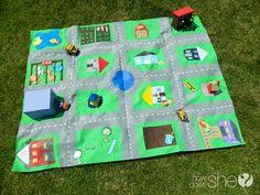 car play mat giant road play rug for kids activities for