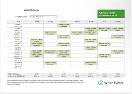 Employee Schedule Template Excel Free Excel Template For Employee Scheduling When I Work