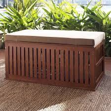 Large Storage Bench Outdoor Enchanting Outdoor Cushioned Wood Bench Storage Solid
