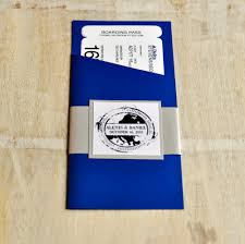 Boarding Pass Wedding Invitation Card Boarding Pass Invitation Or Save The Date Design Fee Royal Blue