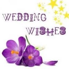 wedding wishes on wedding wishes with purple flower