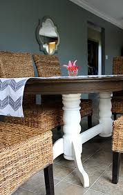 Painted Oak Dining Table And Chairs Diy Refinish An Old Oak Table Hometalk