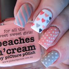 it u0027s all about the polish peach valentine u0027s nail design