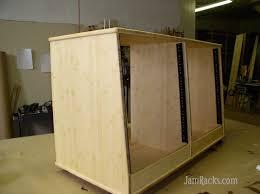 Wood Audio Rack Solid Wood Studio Rack Furniture Gallery Jamracks Com