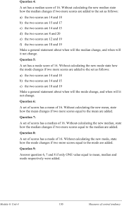 measure of central tendency worksheet worksheets reviewrevitol