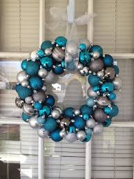 christmas ornament wreath teal u0026 silver crafts i u0027ve made