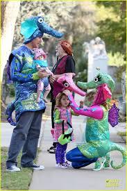 Seahorse Halloween Costume Alyson Hannigan U0026 Alexis Denisof Seahorse Halloween Couple
