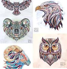 tatto ideas 2017 ethnic patterned animal head totem tattoo
