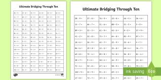 ultimate ks1 bridging through ten activity sheet home