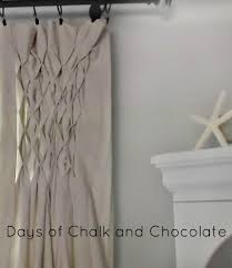 Smocked Burlap Curtains Smocked Drop Cloth Curtains Days Of Chalk And Chocolate