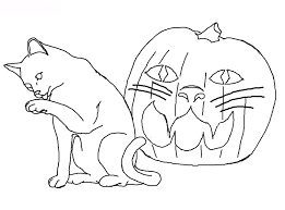 picture of halloween cats halloween cat coloring page archives gallery coloring page