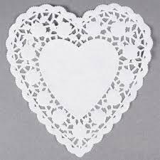 heart doily white 6 paper heart doilies 1000