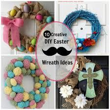 10 creative diy easter wreath ideas