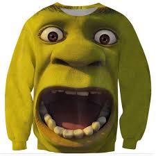 shrek clothing monster mouth harajuku men women u0027s 3d sweatshirt