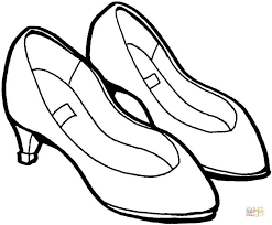 lady shoes coloring free printable coloring pages