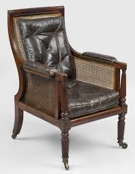 Antique Armchairs Antique Armchairs English Regency Mahogany Library Caned Armchair