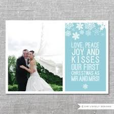 married christmas cards newlywed christmas card just married yourself a married