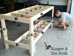 How To Build This Diy Workbench by Garage Workbench Building Garage Workbench Plansbuild Plans