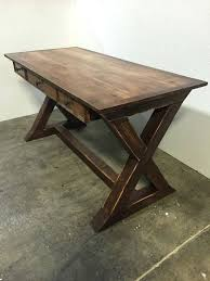 Modern Rustic Desk Excellent Desk Farmhouse Rustic X Wolfcreekcarpentry Throughout
