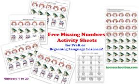 number matching pages 1 to 20 in english spanish german or