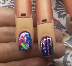 nail art tutorial transfer foil over gel polish youtube