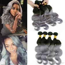 can ypu safely bodywave grey hair best selling silver grey ombre human hair extensions ombre gray