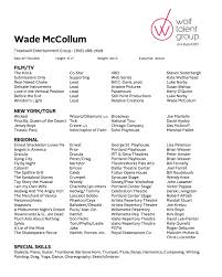 Headshot And Resume Sample by Wade Mccollum Wade Mccollum Actor Composer Philosopher