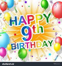 ninth birthday meaning 9 celebrating celebration stock