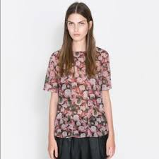 print blouses zara zara print blouse top from a s closet on poshmark