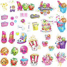 roommates shopkins peel and stick wall decals walmart com