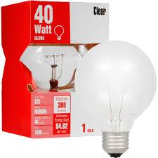 halloween light bulbs great value 40w clear globe light bulb 3 pack walmart com