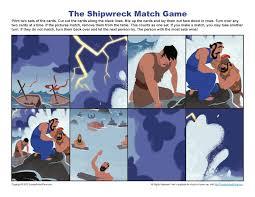 paul u0027s u0027 shipwreck match game sunday activities for kids
