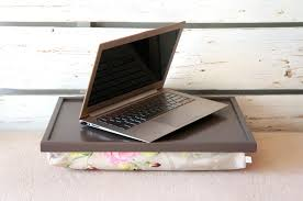 Laptop Desk With Cushion Laptop Desk Or Breakfast Serving Tray Greyish Brown With