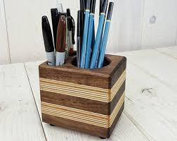 Modern Desk Organizer Wood Desk Organizer Etsy