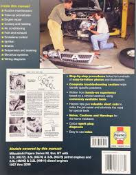 mitsubishi pajero automotive repair manual 97 09 haynes