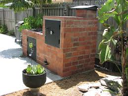 brick bbq smoker pit plans fire pit design ideas