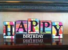 Happy Home Decor Happy Birthday Wood Block Sign Kid U0027s Birthday Party Home