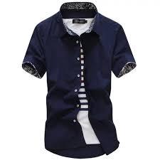 2017 new male shirt brand summer mens dress shirts short sleeve