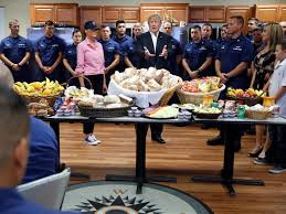 shows up with depressing thanksgiving spread for coast guard