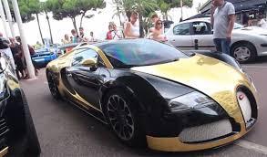 bugatti gold and video gold and black bugatti veyron in cannes gtspirit