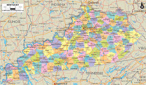 Physical Map Of The United States by Physical Map Of Kentucky