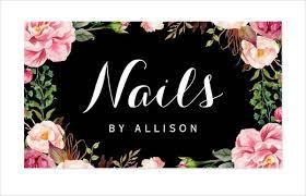 It Technician Business Card Nail Salon Business Card 9 Free Psd Vector Ai Eps Format