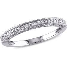 white gold wedding bands miabella 1 10 carat t w 10kt white gold wedding band