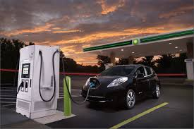nissan leaf quick charger nissan partners with oil company for electric car fast charging
